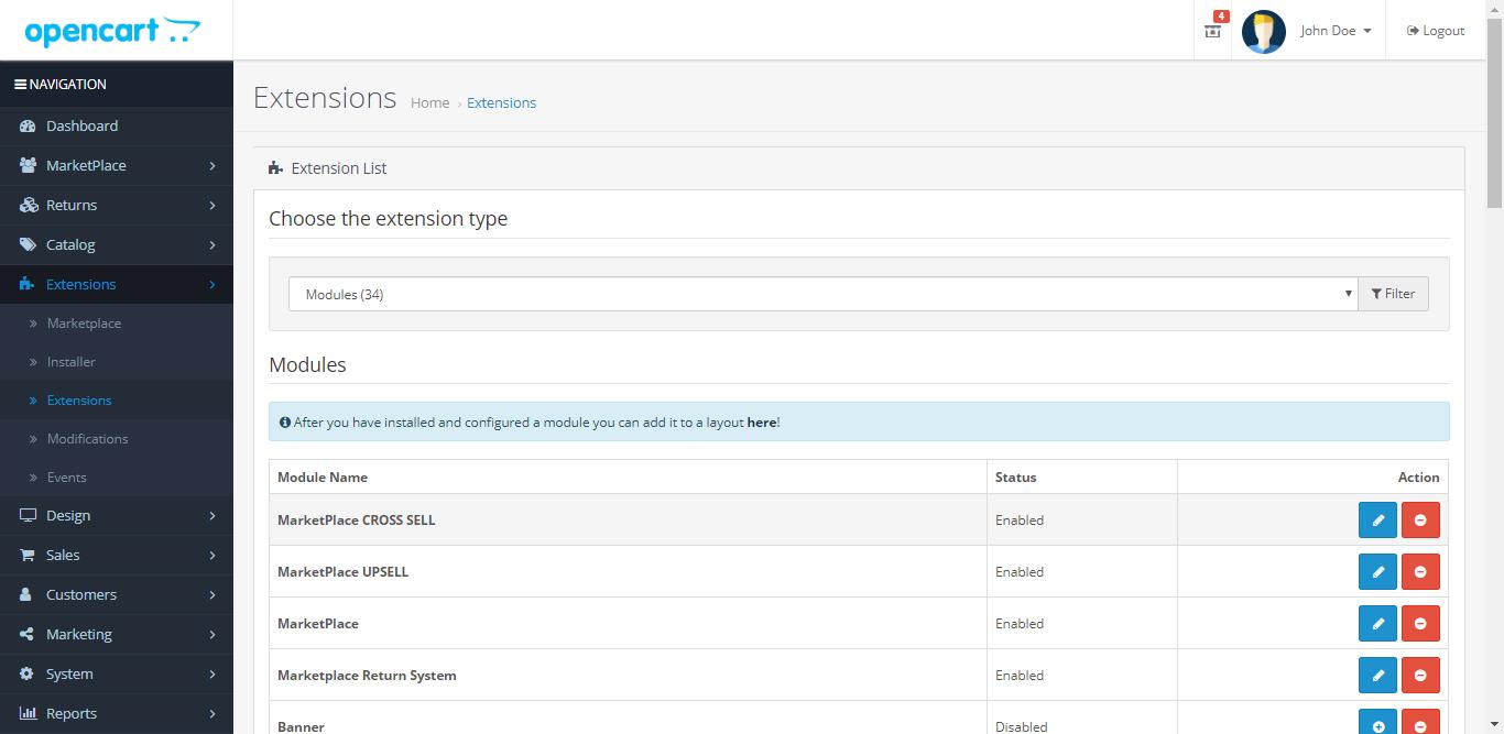 webkul_opencart_marketplace_rma_module_install_section