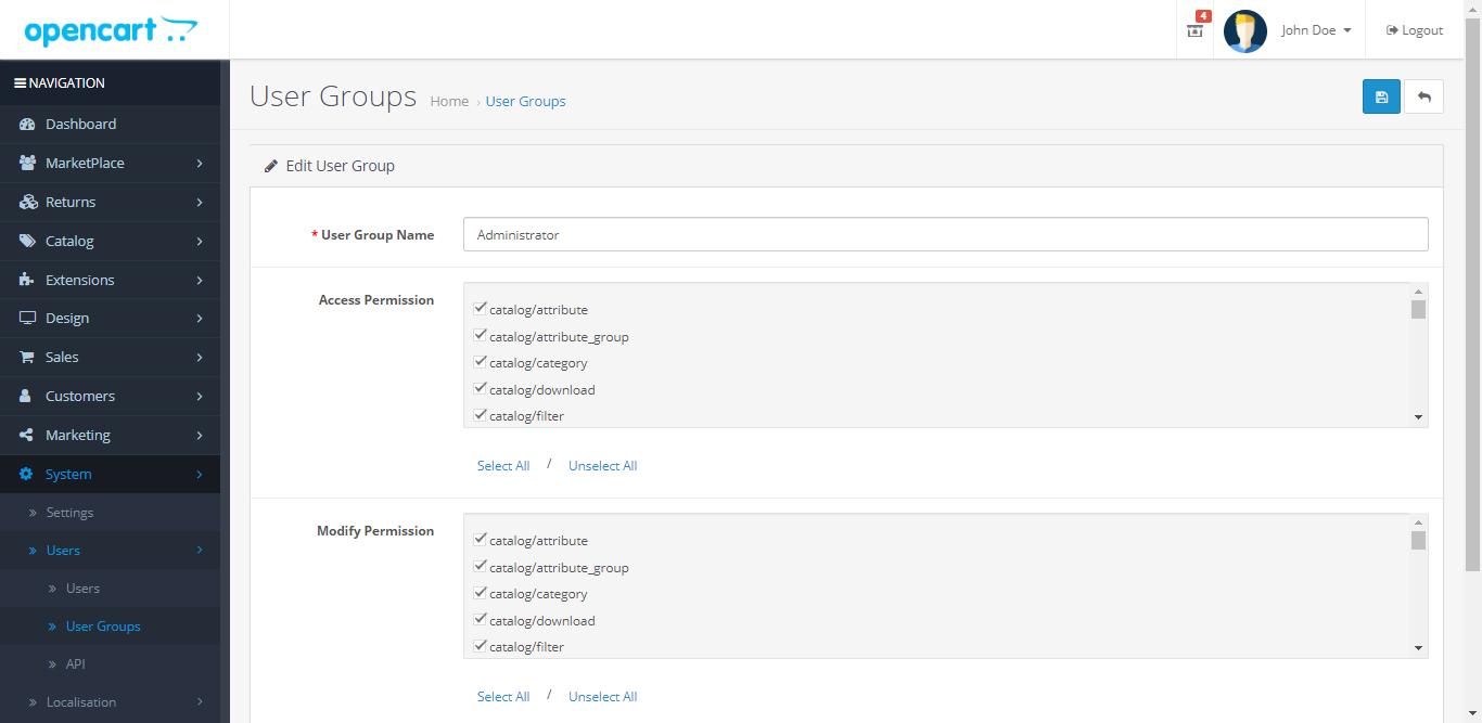 webkul_opencart_marketplace_rma_user_groups_access_management