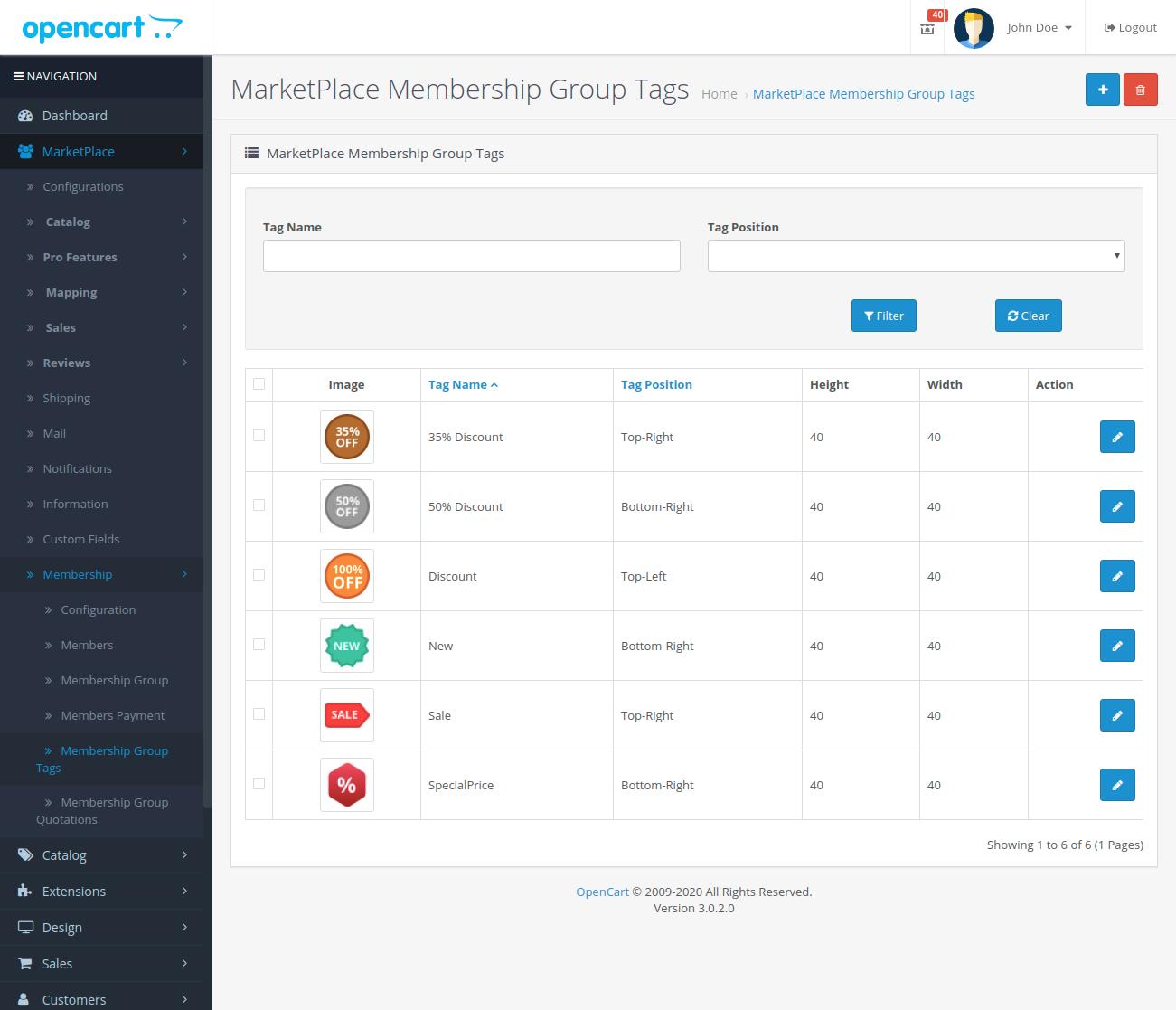 MarketPlace-Membership-Group-Tags