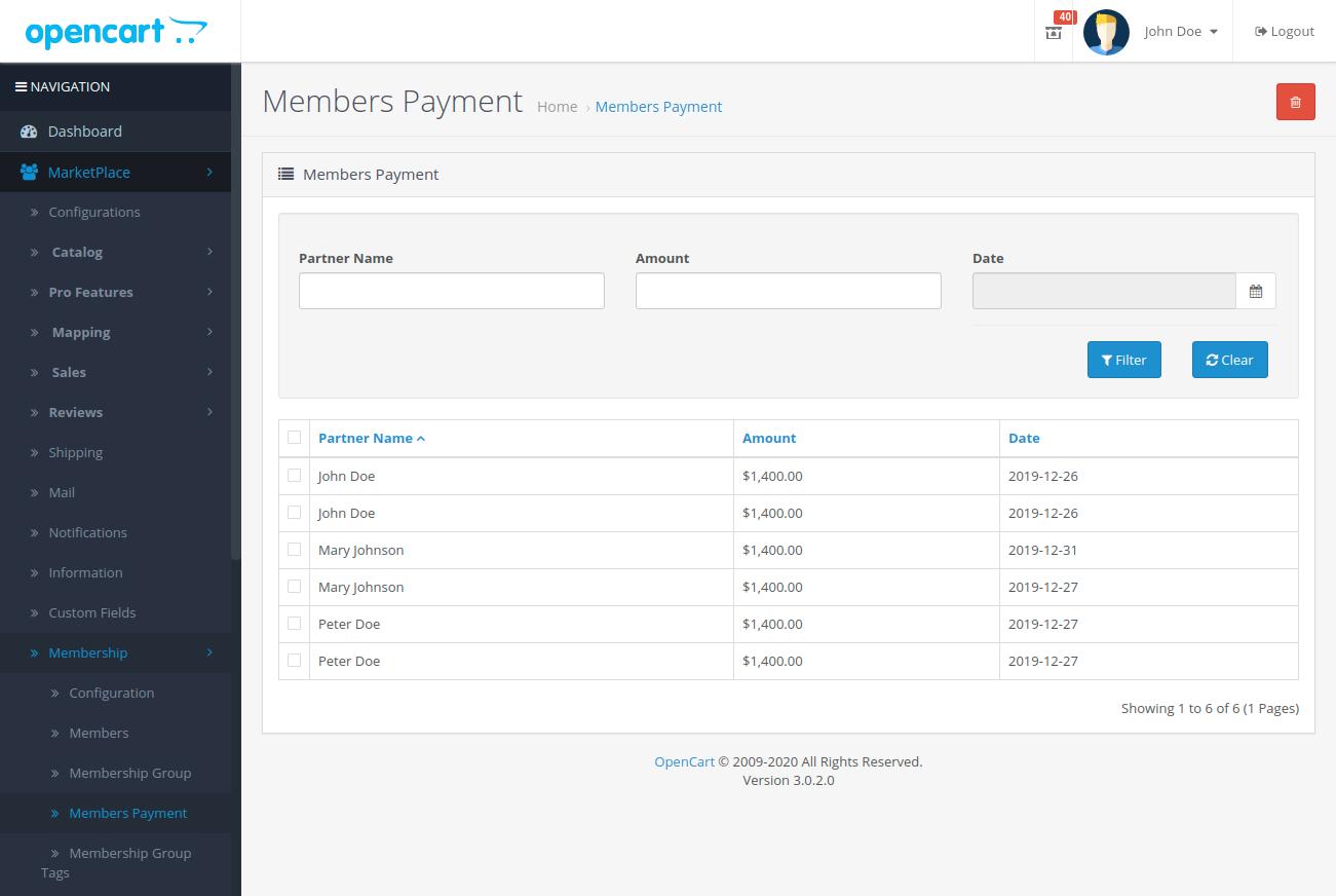 Members-Payment