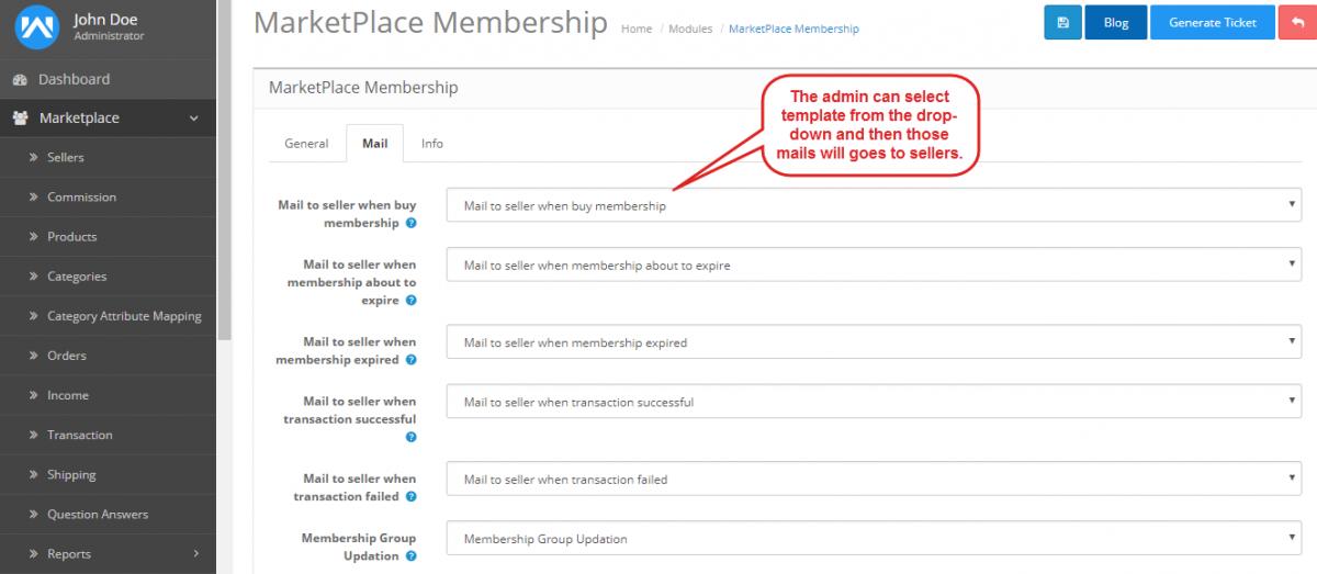 mail of membership