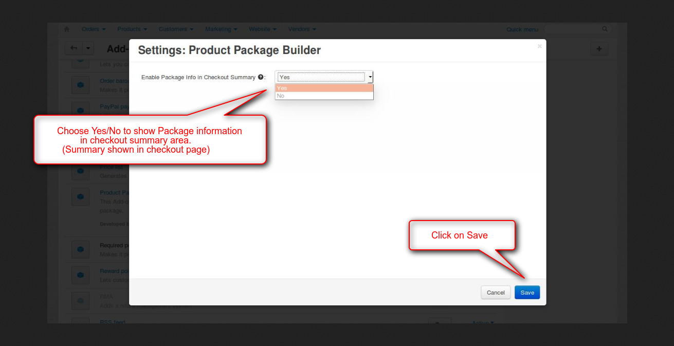 Configure Product view at checkout