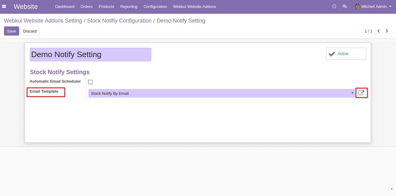 setting up Website Stock Notify in Odoo 3