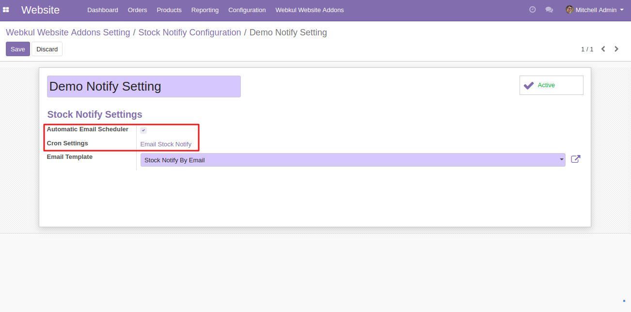 setting up Website Stock Notify in Odoo 4