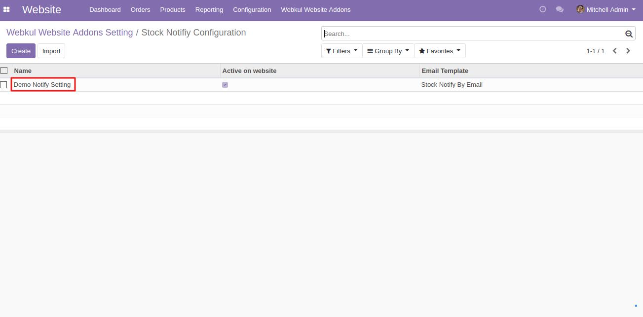 setting Website Stock Notify in Odoo 1