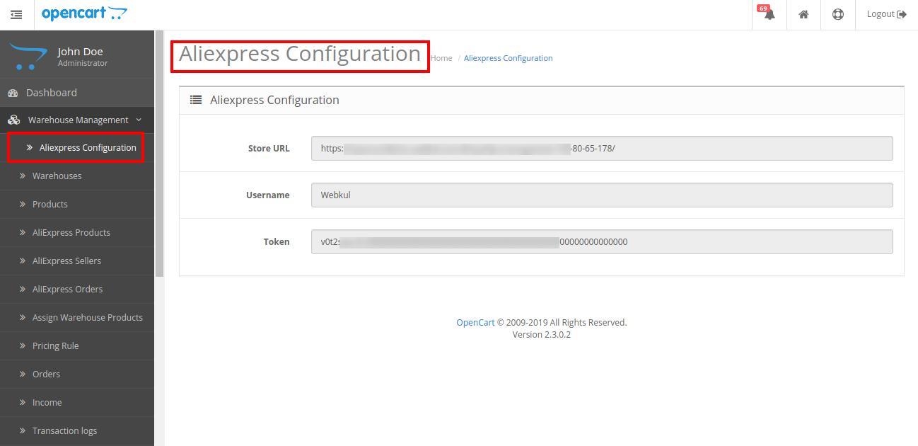 aliexpress configuration