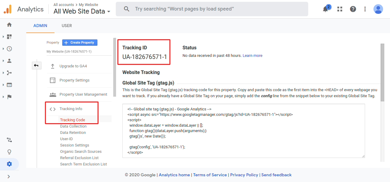 multi vendor - enter analytics tracking ID