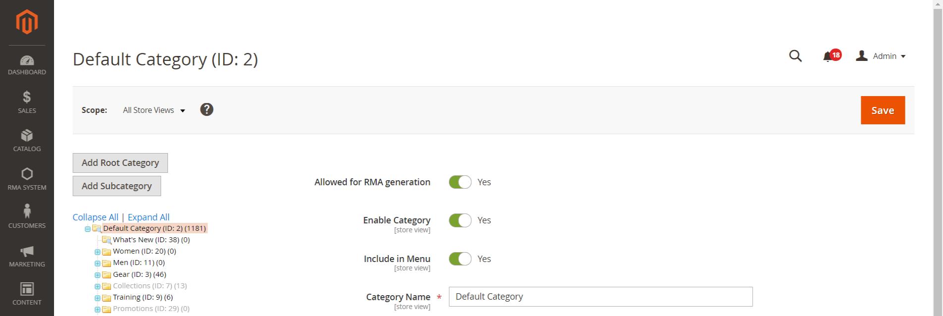Default-Category-ID-2-Categories-Inventory-Catalog-Magento-Admin