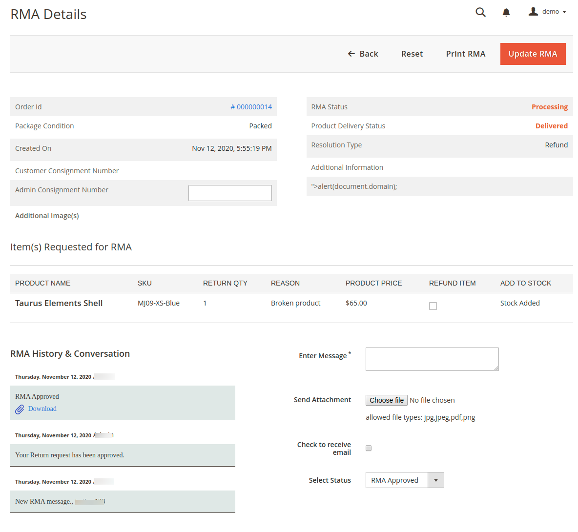 RMA-Details-Menu-RMA-System-Magento-Admin