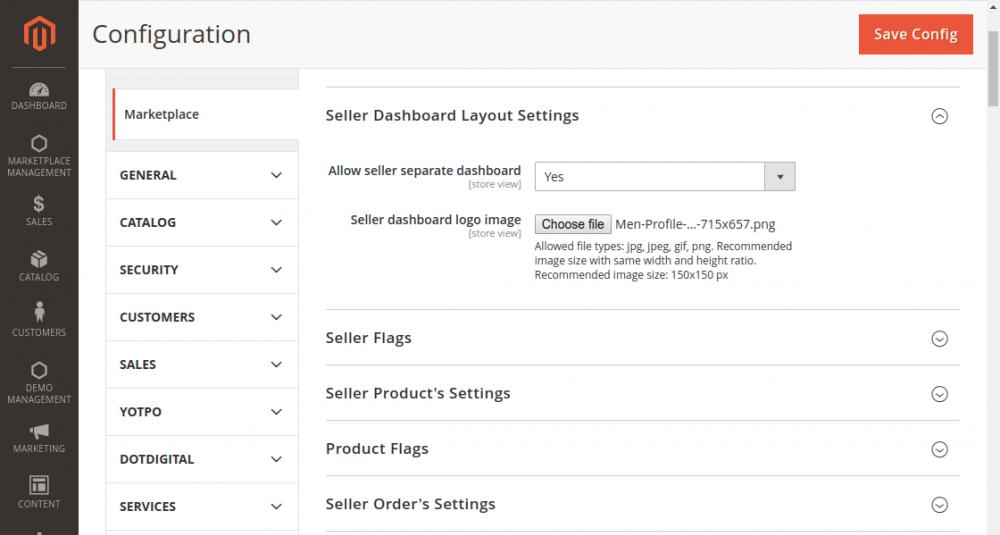 Seller-Dashboard-Layout-Settings