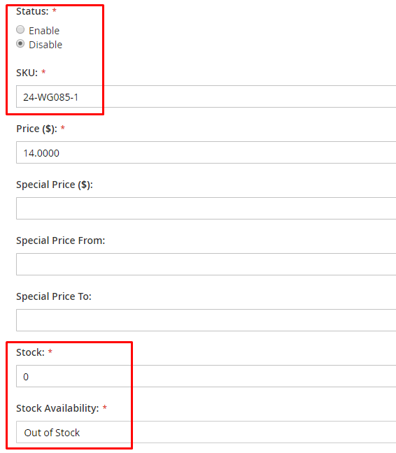 duplicate product created edit info
