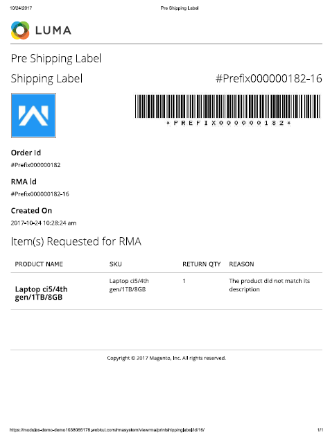 print shipping slip