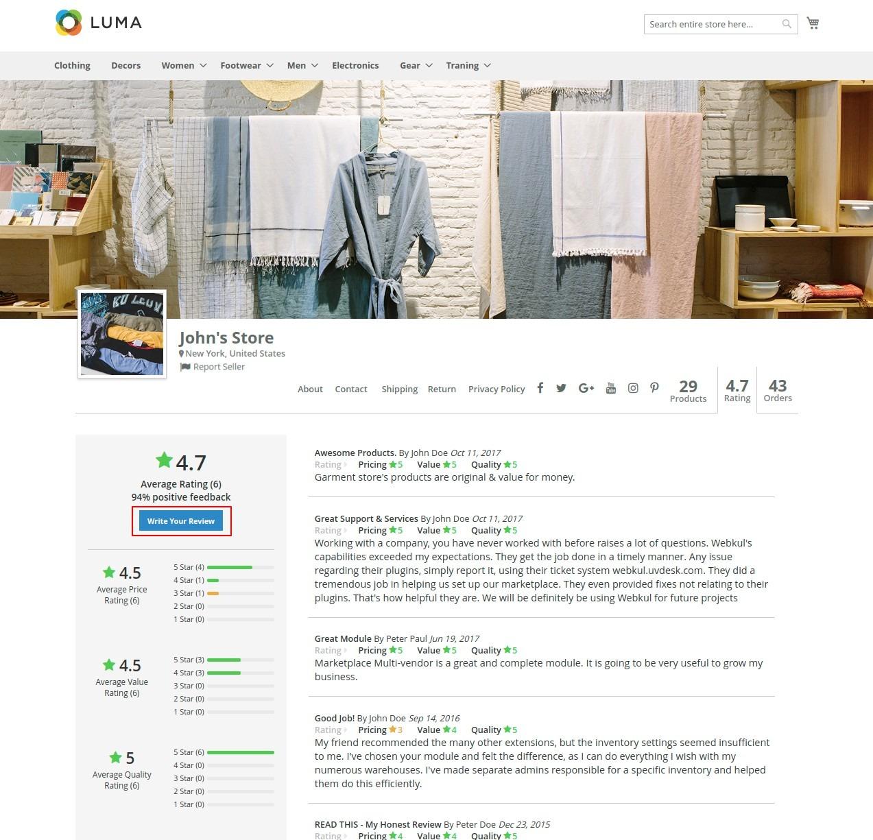 multi vendow marketplace