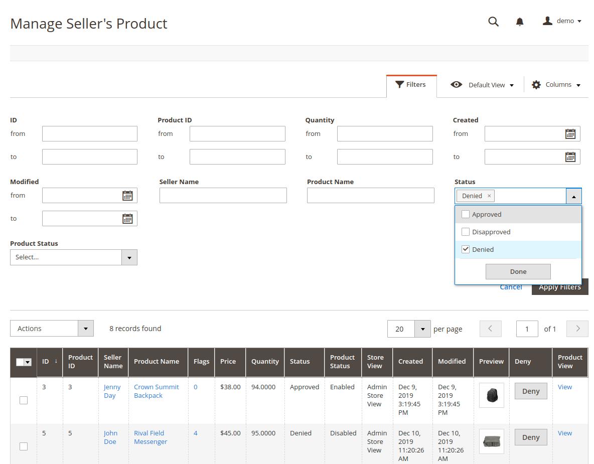 webkul-magento2-multi-vendor-mp-admin-apply-denied-filter