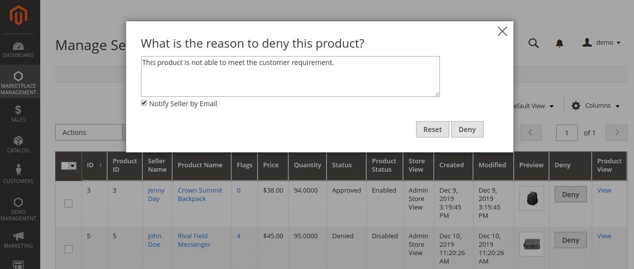 webkul-magento2-multi-vendor-mp-admin-denies-product
