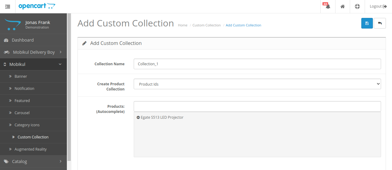 webkul-opencart-mobile-app-assign-add-custom-collection