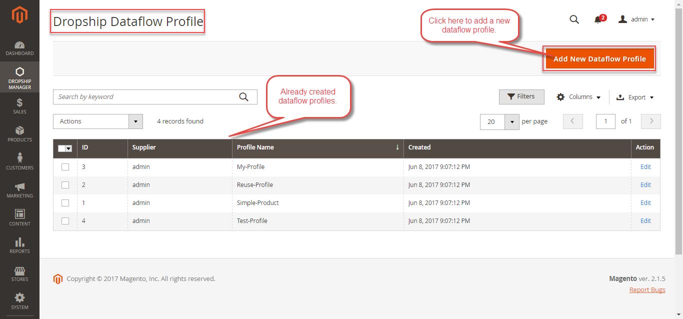 Dataflow-Profile-Already-Created