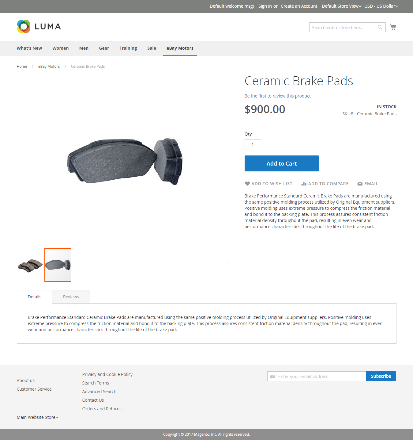 exported product eBay Connector for Magento2