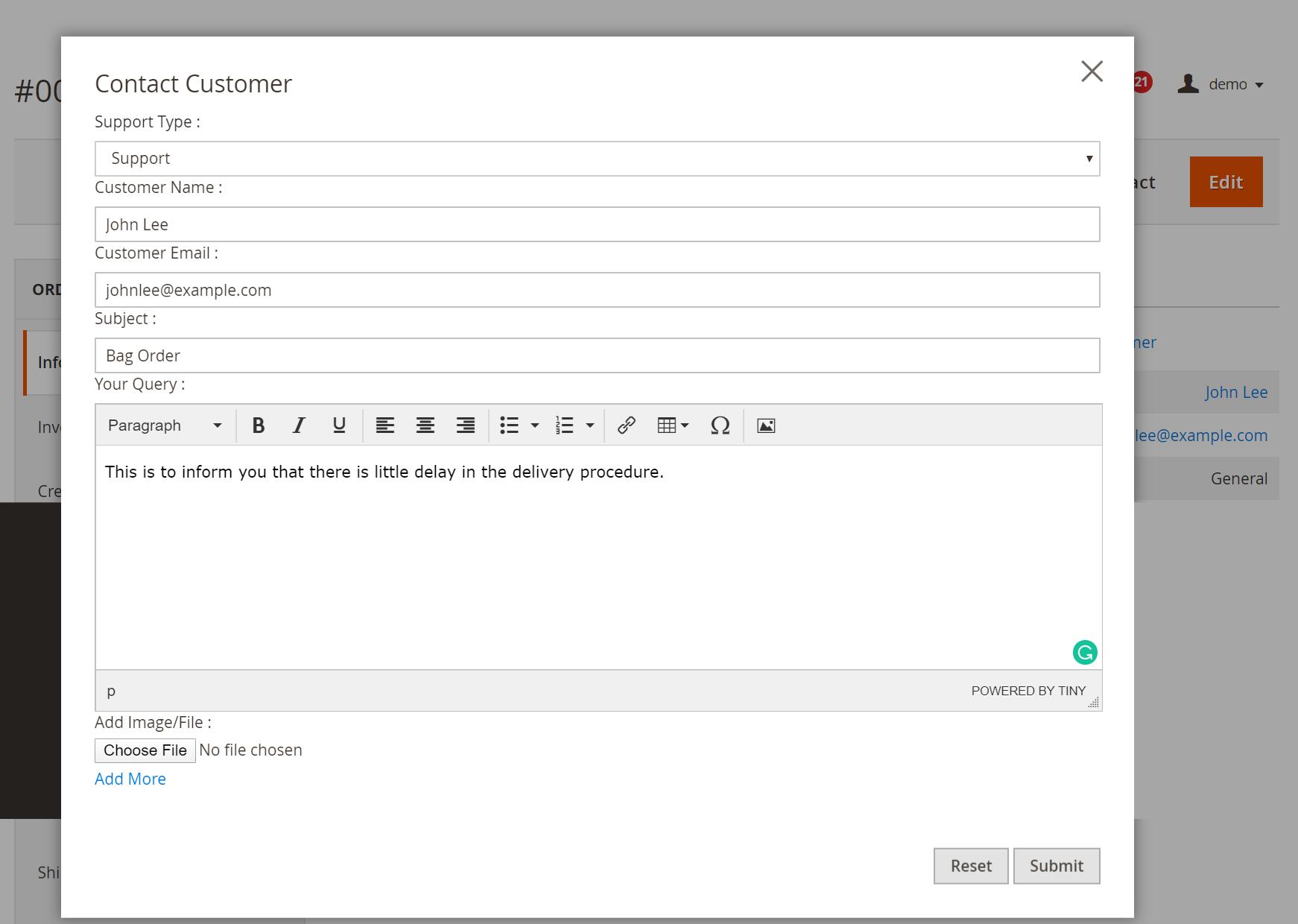 Admin_customer_communication