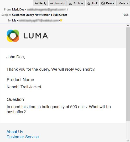 Buyer Seller Communication- customer email