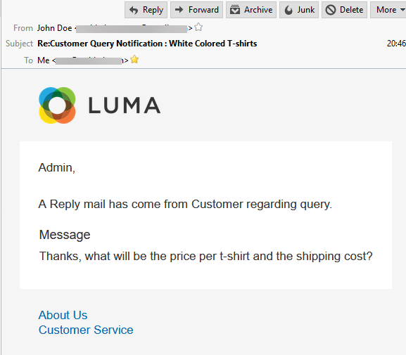 customer reply to seller - admin email notify