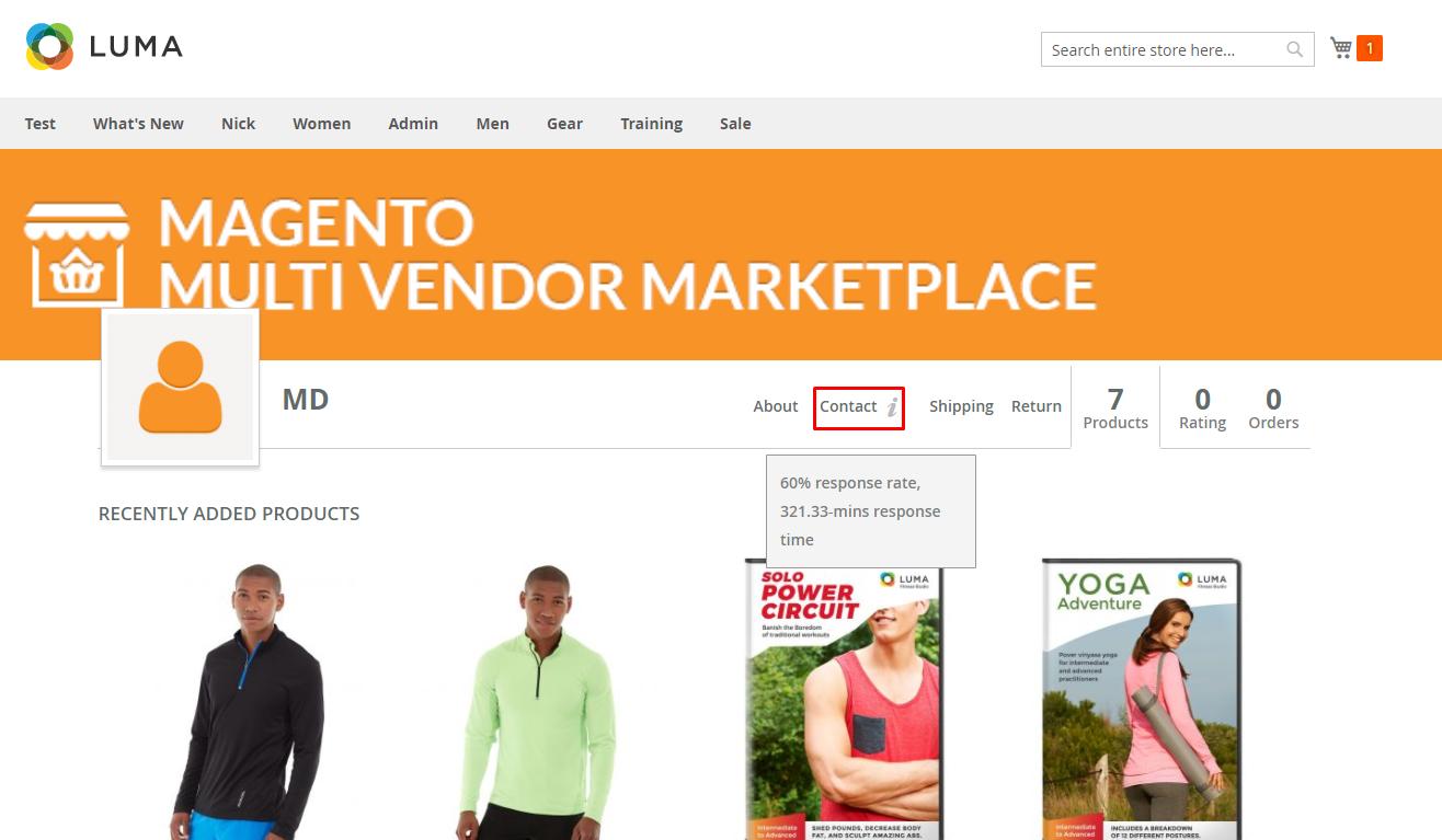 Buyer Seller Communication-seller profile section