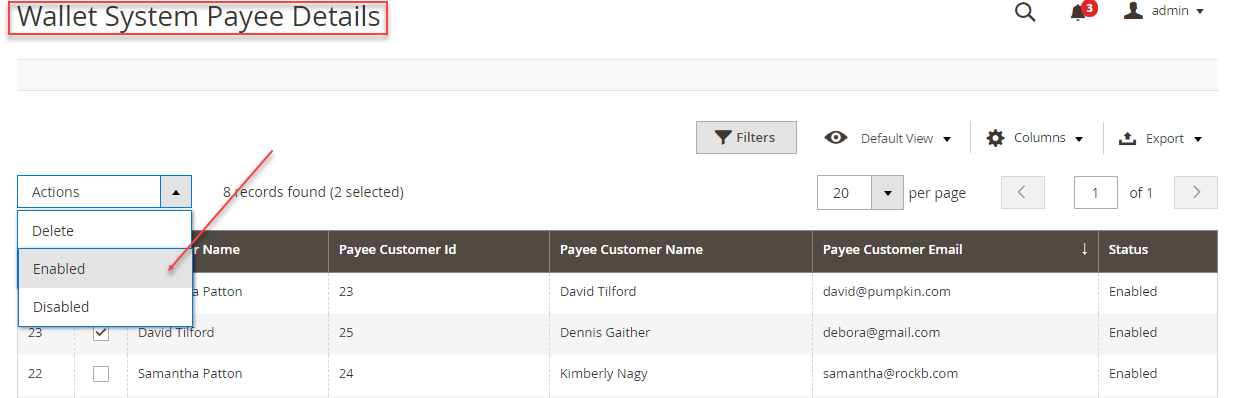 Wallet System Update Payee Details Magento 2 Wallet System