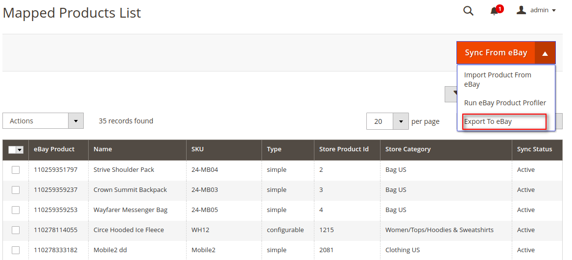 webkul-magento-2-ebay-connector-mapped-product