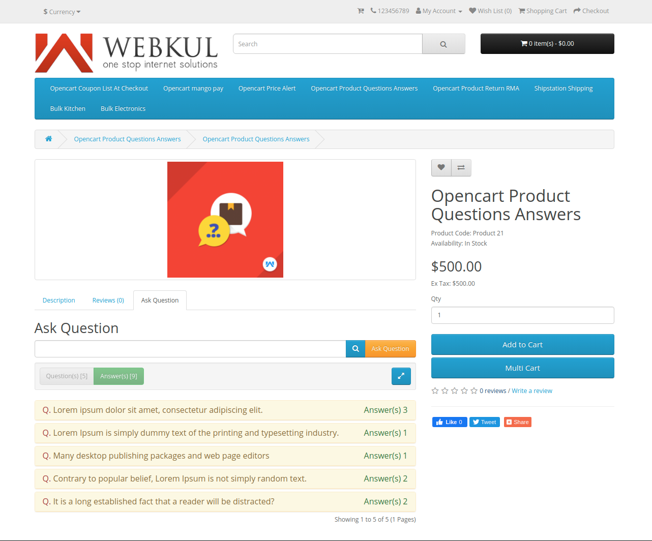 webkul-opencart-product-question-answers-ask-question-frontend-view