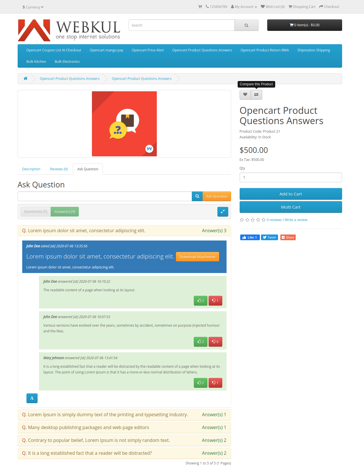 webkul-opencart-product-question-answers-download-customers-attachment