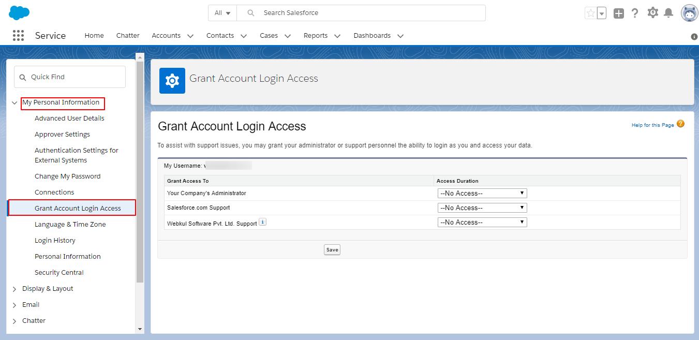 Grant Login Access