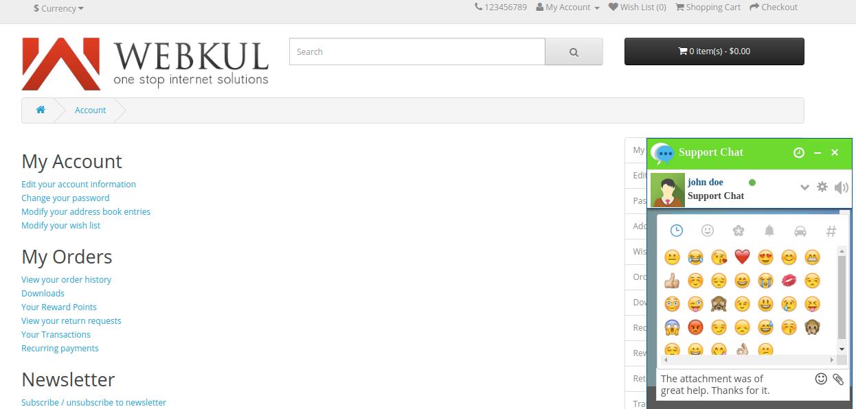 webkul-opencart-admin-buyer-chat-adding-displaying-emojis-customer-end