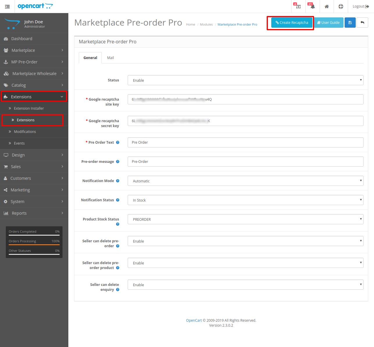 Marketplace Pre order Pro