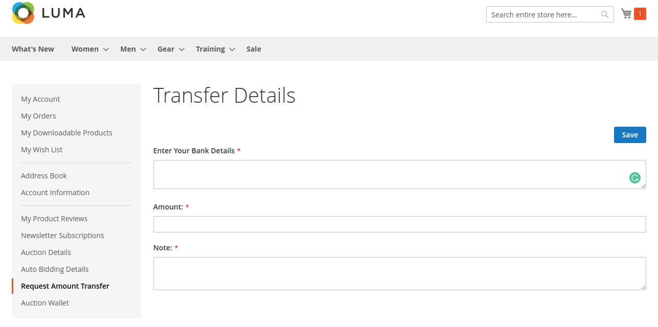 transfer detail