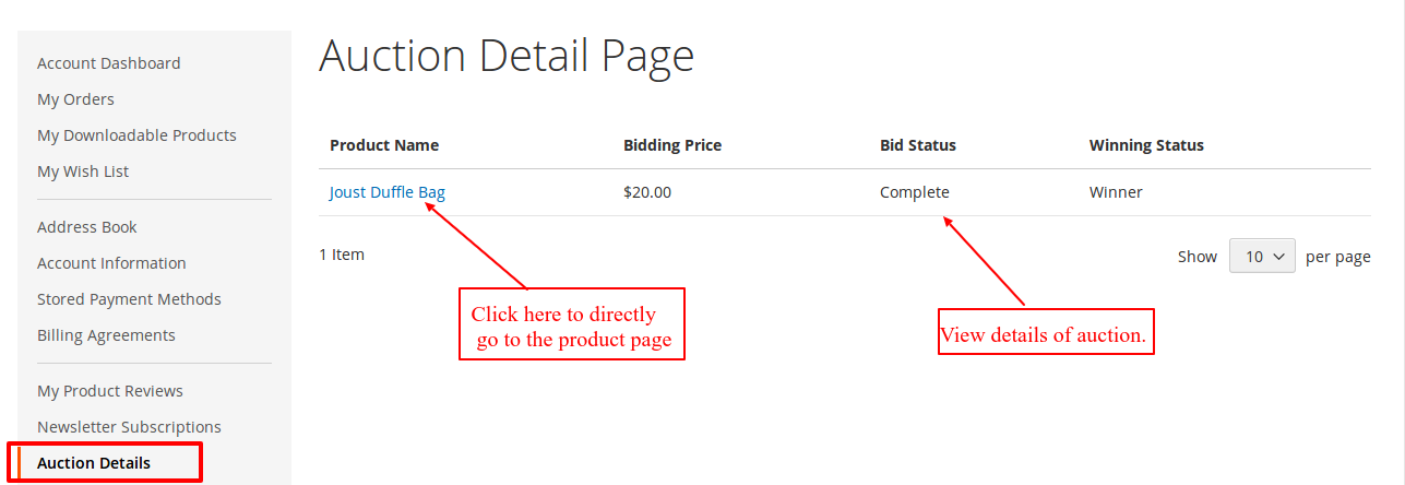 webkul-Auction-Magento2-auction-detail-page