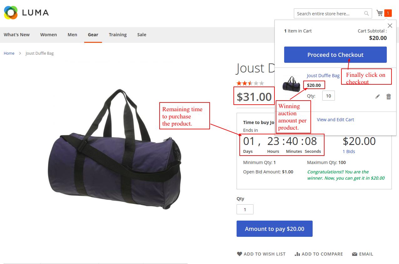 webkul-Auction-Magento2-bidding-product-checkout