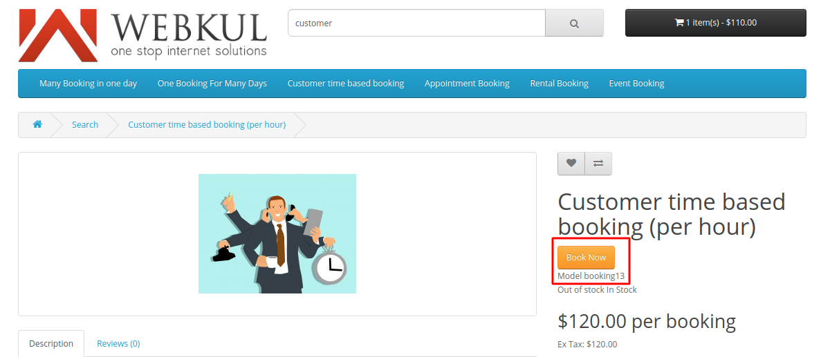 Customer-time-based-booking-for-hourly-basis