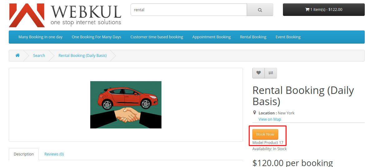 Rental-booking-for-daily-basis-customer-end