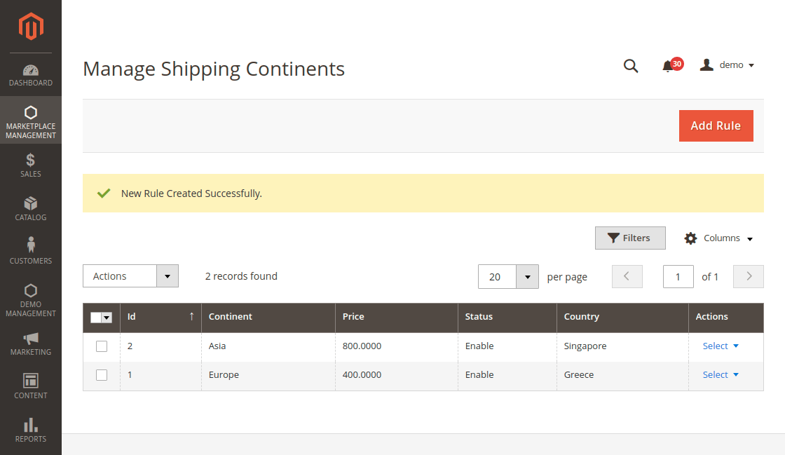 Shipping-Continents