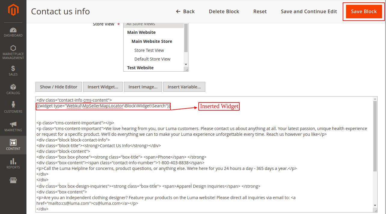 webkul-magento 2-seller-locator-edit-block-widget added
