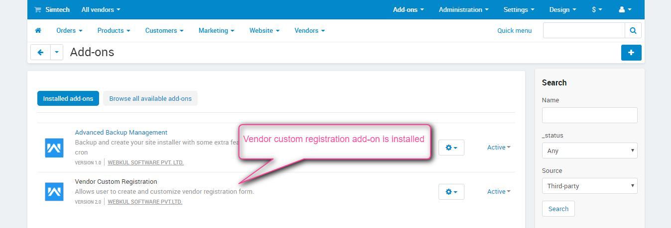 vendor-custom-registration-add-on-installed