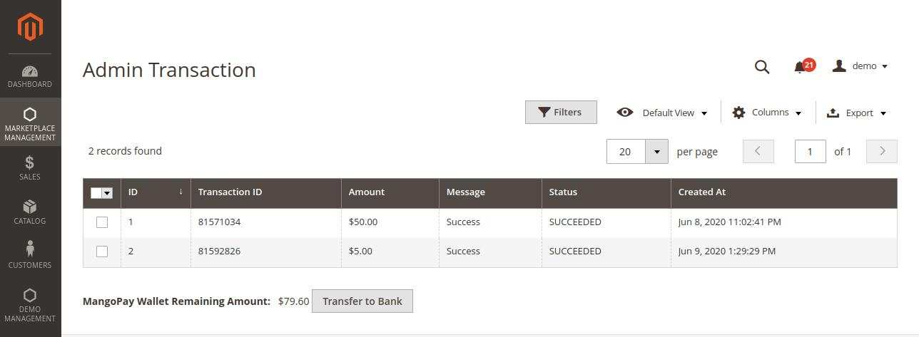 webkul-magento2-marketplace-mangopay-payment-gateway-admin-transaction