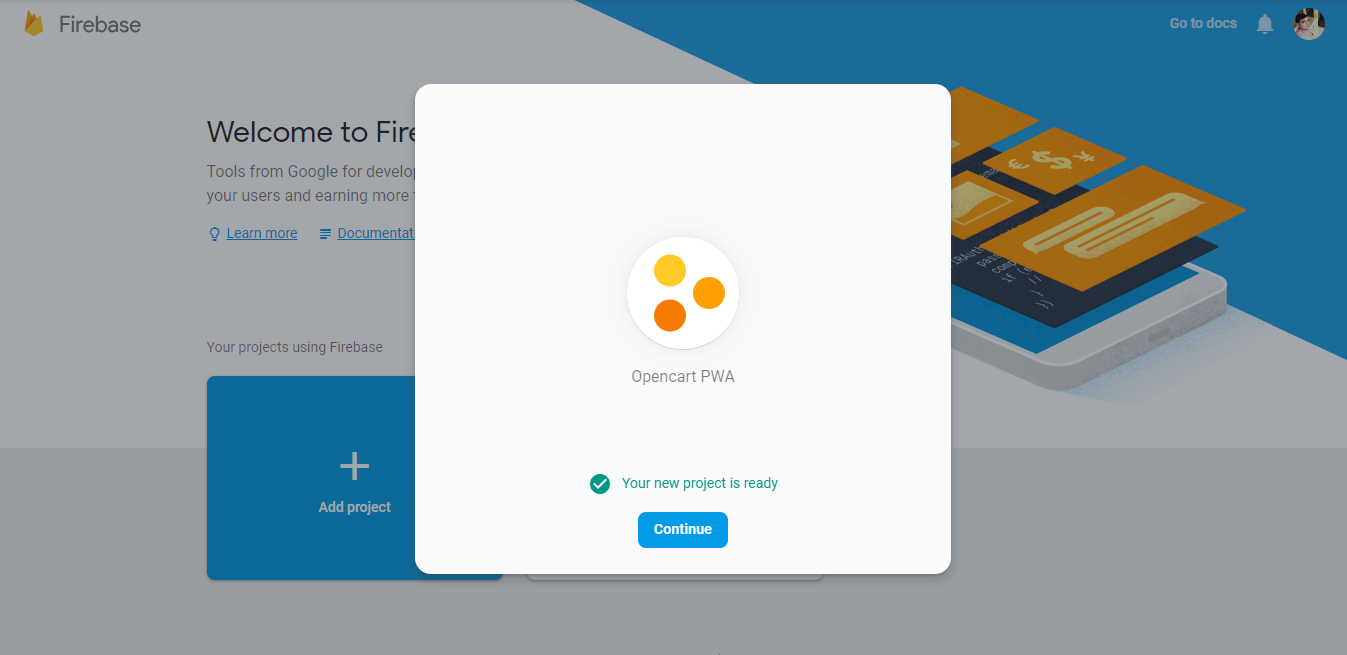 webkul-opencart-pwa-firebase-project-added