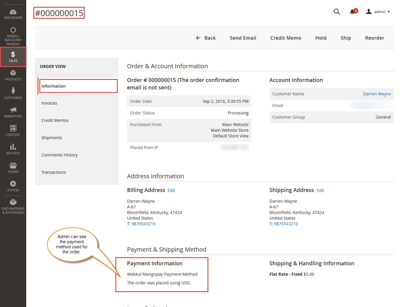 MangoPay Payment Gateway - Orders