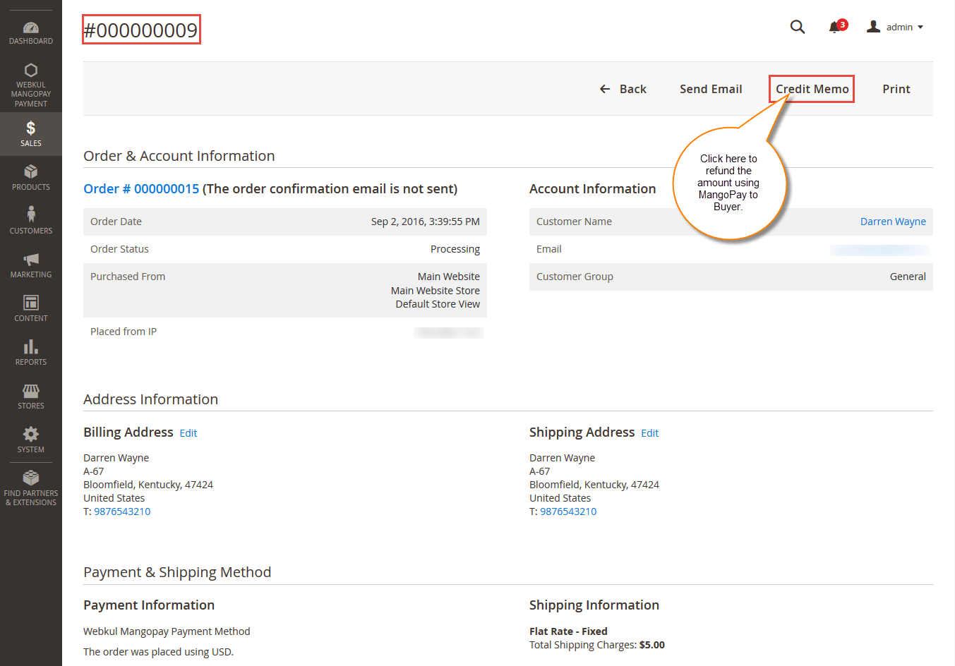MangoPay Payment Gateway - Refund