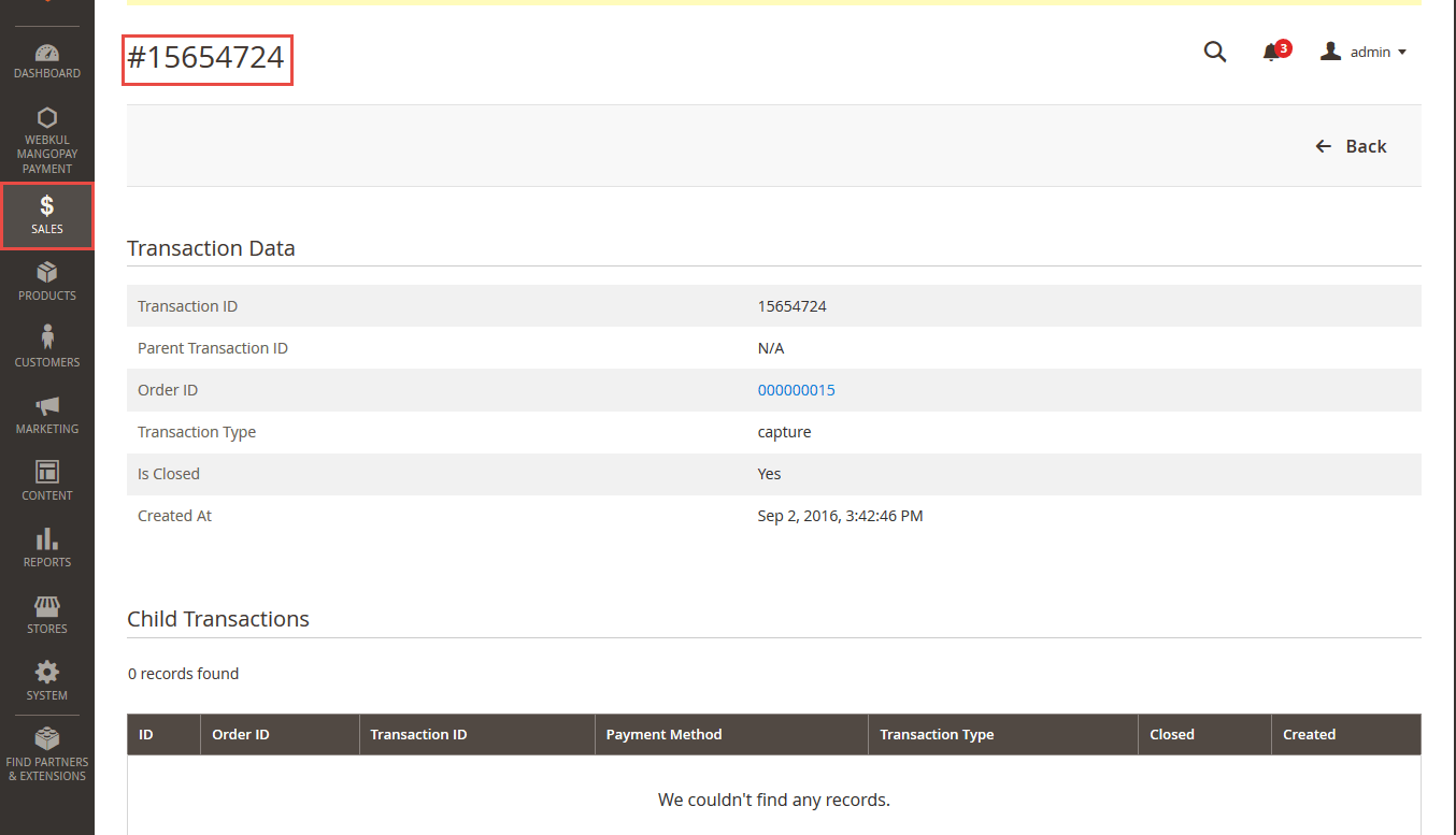 MangoPay Payment Gateway - Transsaction-details