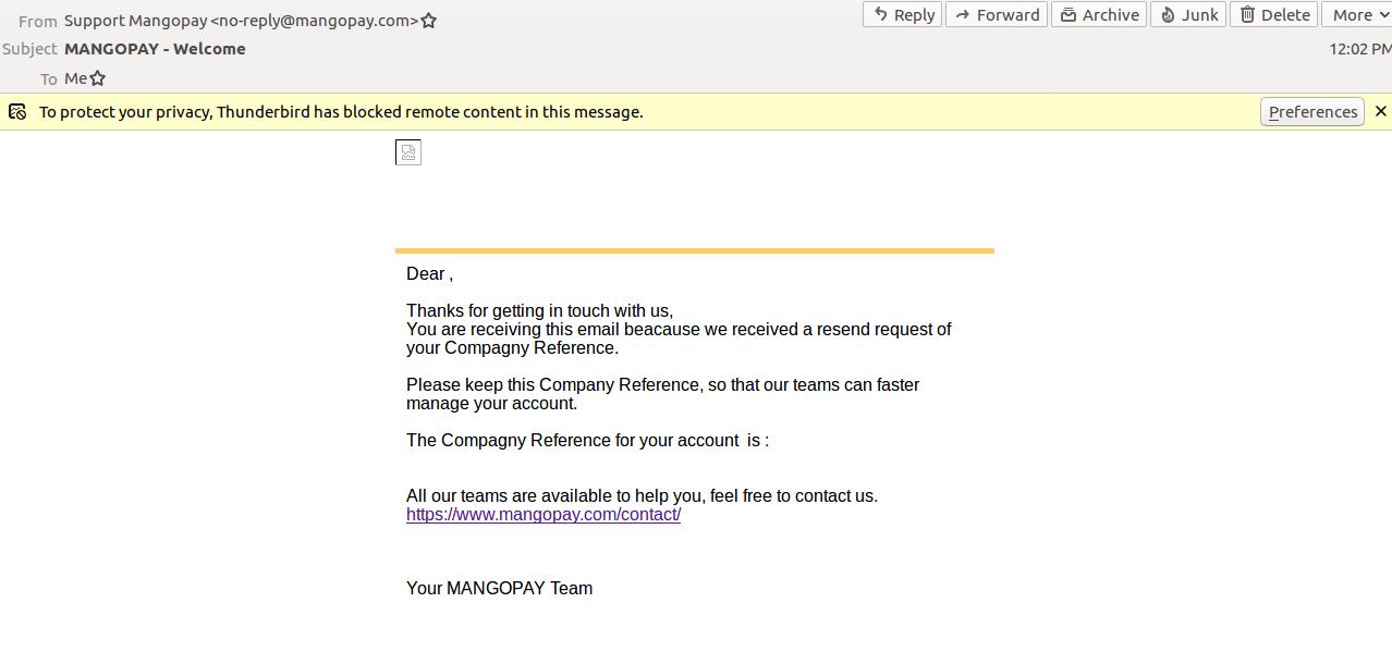 Mail - MangoPay Payment Gateway