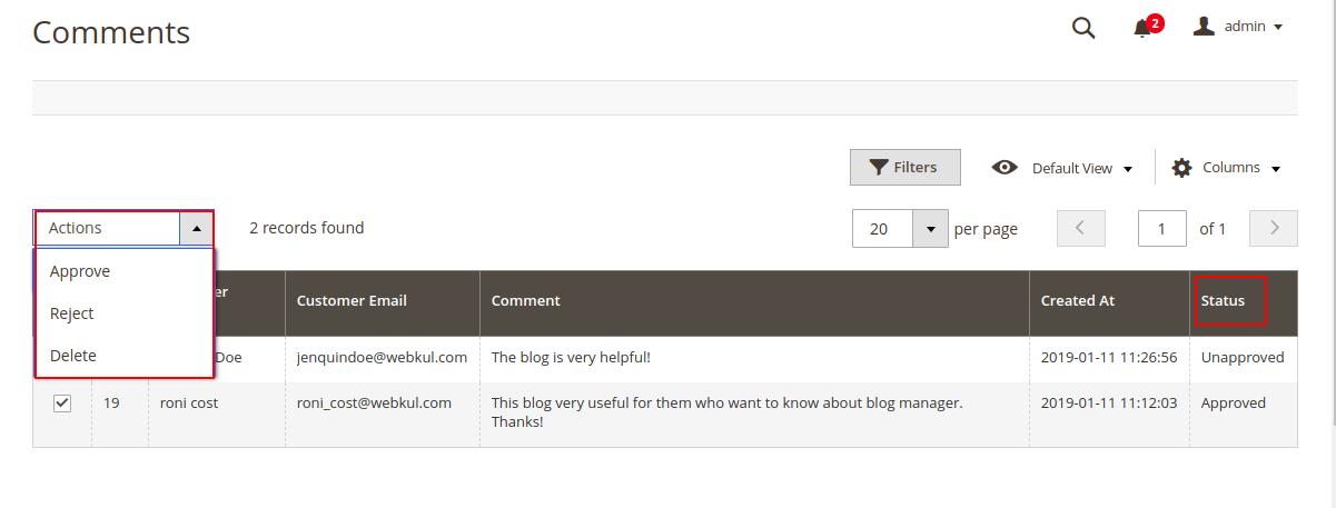webkul-magento2-blog-manager-blog-comment-status
