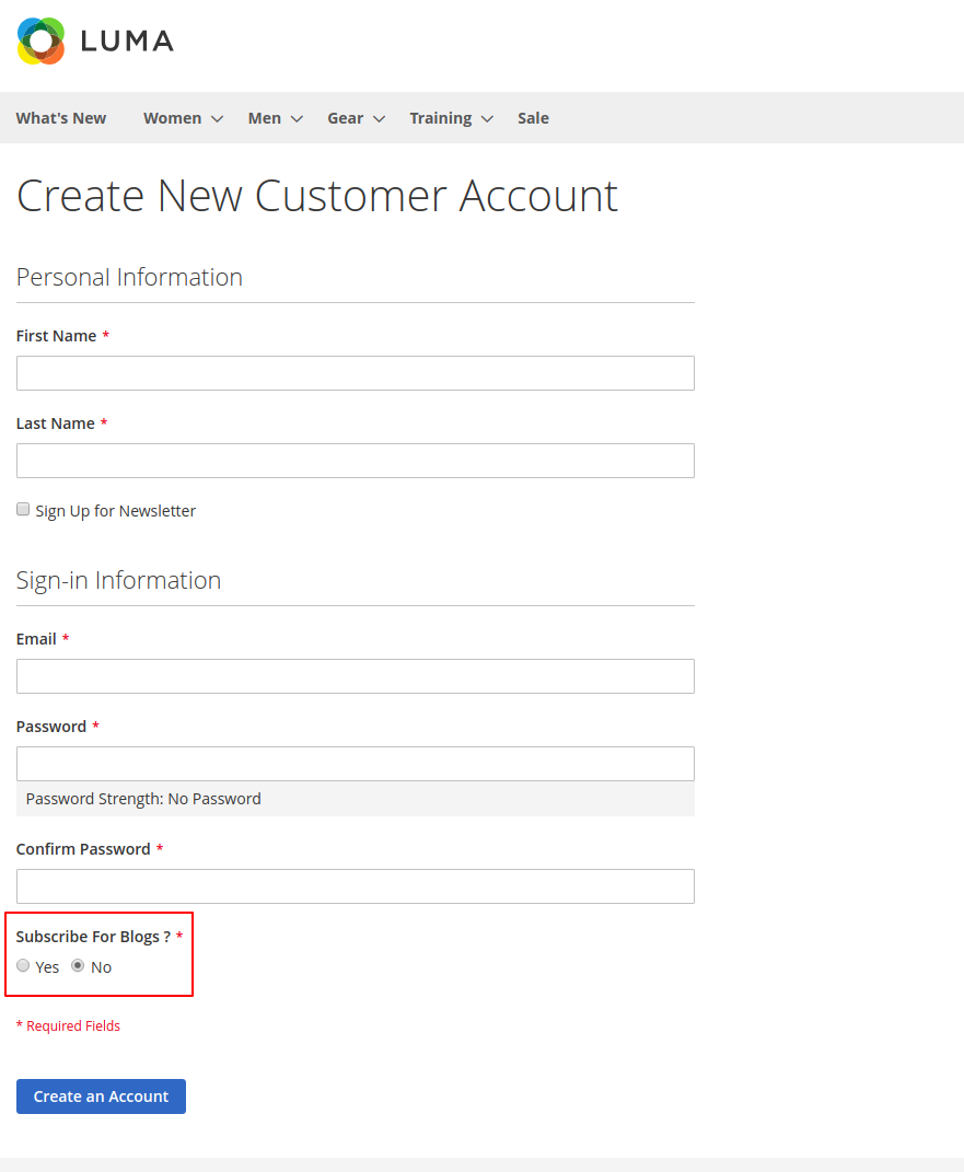webkul-magento2-blog-manager-customer-registeration
