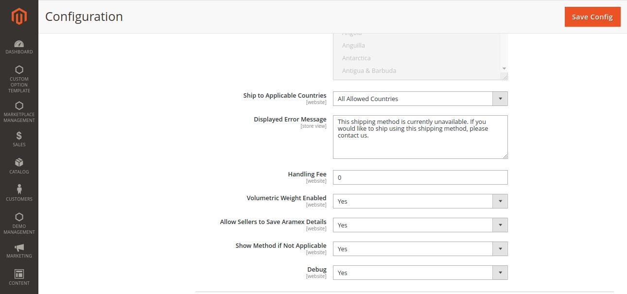 webkul-magento2-marketplace-aramex-shipping-volumetric-weight-enabled